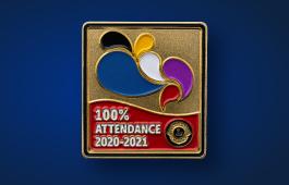 2020-2021 perfect attendance pin