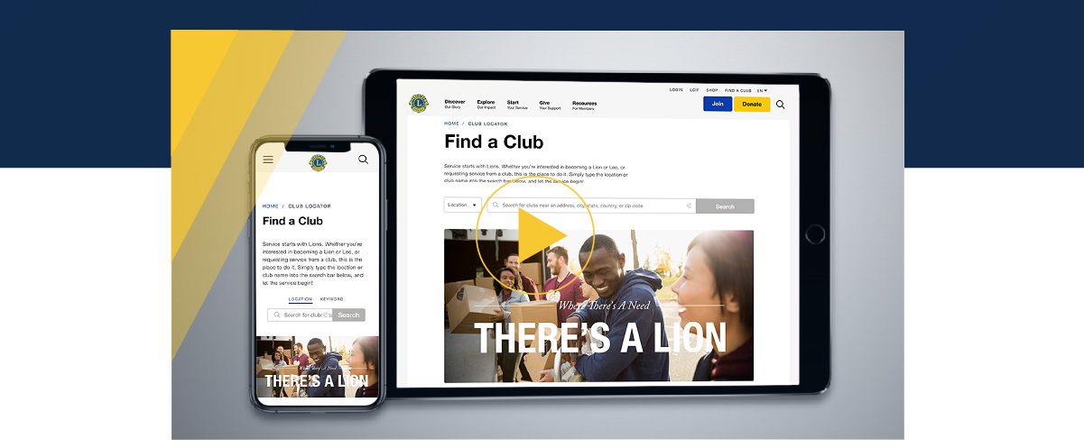 The New Lions Clubs International Website