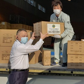 Lions in Japan deliver protective masks for vulnerable community members.