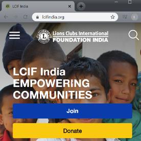 Découvrez la nouvelle version du site LCIF Inde.